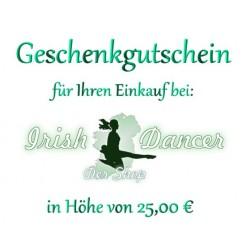 Geschenkgutschein 25,00 Euro