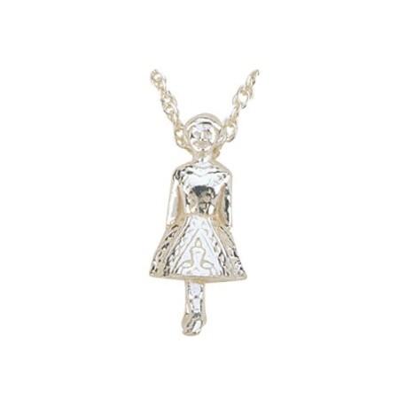 Irish Dancer Anhänger & Kette, Silber