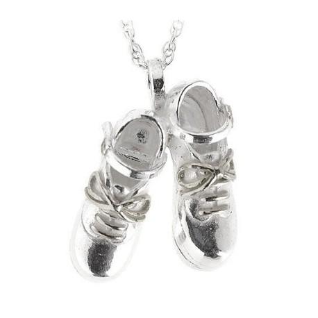 Jig Shoe´s (Paar) Anhänger & Kette, Silber