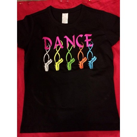 """Damen T-Shirt mit besticktem """"Dance"""" Motiv"""