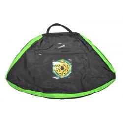 Kostümtasche schwarz-grün, Fold over Cover