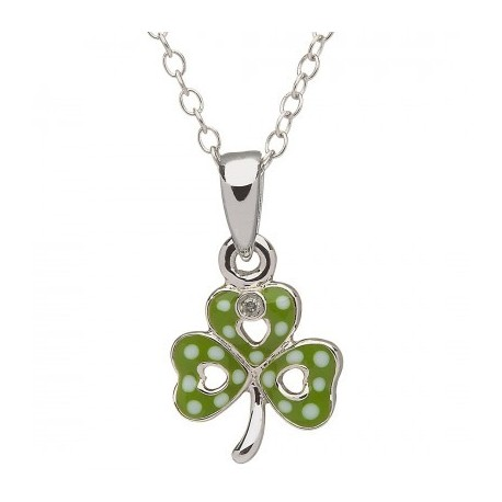 Shamrock Anhänger grün, Little Miss Kollektion