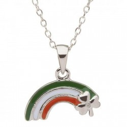 Shamrock Rainbow Pendant, Little Miss Collection