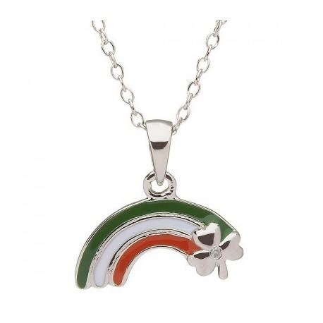 Shamrock Rainbow Pendant, Little Miss Collection