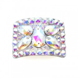 Diamante Buckles Butterfly Design Clear Crystals