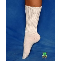 AB Sparklys White Ankle Length Diamonted Poodle Socks Irish Dancing